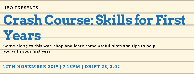 UBO: Crash Course: Skills for First Years